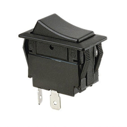 Ideal Industries 774040BK Rocker Switch, 125/277 VAC 20/15 A, DPDT, 2 Poles
