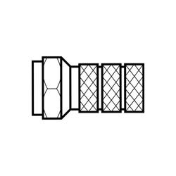 IDEAL 85-039 F-CONN,TWIST-ON RG-6