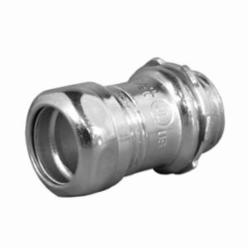 Appozgcomm ETP 7400S Non-Insulated Throat Straight Compression Connector, 4 in Trade, For Use With EMT Conduit, Steel