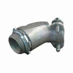 Appleton® 7246V Conduit Connector With Locknut, 1/2 in Trade, 0.81 - 0.94 in Cable Openings, Malleable Iron/Steel
