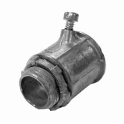 Appozgcomm NEER FC-5501 Non-Insulated Conduit Connector With Locknut, 1/2 in Trade, Die Cast Zinc, Natural