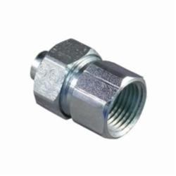 Appleton® ST-75F Female Liquidtight Conduit Connector With Threaded Hub, 3/4 in Trade, Steel, Zinc Electroplated