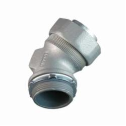 Appleton® ST-45125 Liquidtight Conduit Connector With Plain Throat, 1-1/4 in Trade, 45 deg, Malleable Iron