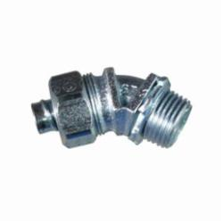 Appleton® ST-4550 Liquidtight Conduit Connector With Plain Throat, 1/2 in Trade, 45 deg, Malleable Iron