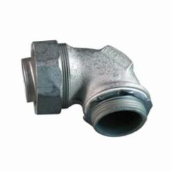 Appleton® ST-90125 Liquidtight Conduit Connector With Plain Throat, 1-1/4 in Trade, 90 deg, Malleable Iron