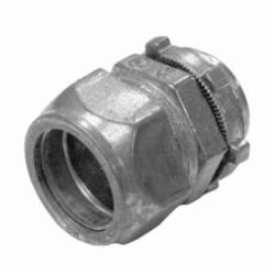 Appozgcomm NEER TC-601 Non-Insulated Throat Straight Compression Connector With Locknut, 1/2 in Trade, Die Cast Zinc