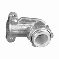 Appozgcomm NEER AC-250-D Non-Insulated Conduit Connector With Locknut, 2-1/2 in Trade, Die Cast Zinc, Natural