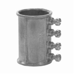 Appozgcomm NEER TC-511 Straight Set Screw Conduit Coupling, 1/2 in, For Use With EMT Conduit, Die Cast Zinc