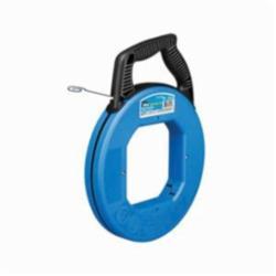 Ideal Industries Blued-Steel™, Tuff-Grip™ Pro 31-056 Fish Tape, 1/8 in W 120 ft L Flat Carbon Steel Blade, Blue