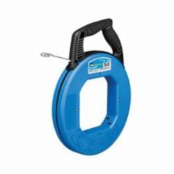 Ideal Industries Blued-Steel™, Tuff-Grip™ Pro 31-059 Fish Tape, 1/4 in W 50 ft L Flat Carbon Steel Blade, Blue