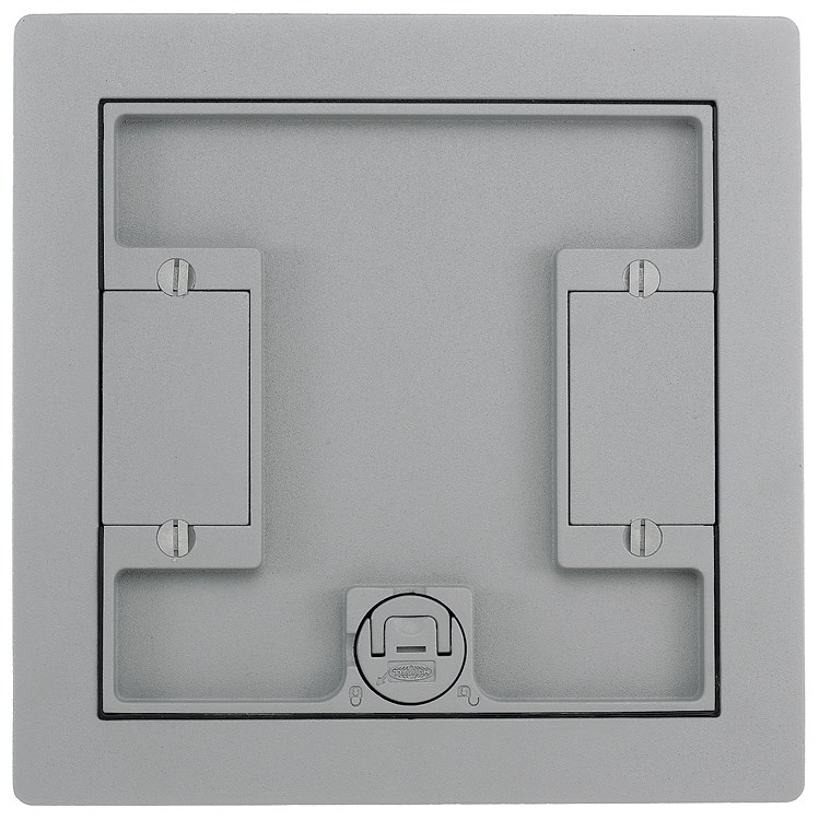 Wiring Device-Kellems LCFBCGYC Floor Box Cover, 10.3 in L x 10.3 in ...
