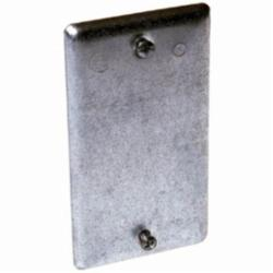 Raco® 860 Blank Flat Handy Box Cover, 4.19 in L x 2.31 in W x 0.13 in D, Steel