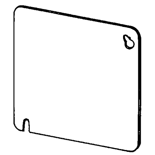 appozgcomm 8465 flat blank outlet square box cover  4 in l