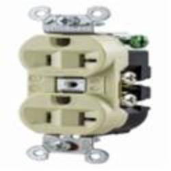 Hubbell Wiring Device-Kellems RCPT, DUP SB, HUBPRO, 20A 125V, SM , IV
