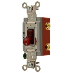 Wiring Device-Kellems HBL1221PL Extra Heavy Duty Toggle Switch, 120/277 VAC, 20 A, 1 hp/2 hp