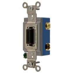 Wiring Device-Kellems HBL1203L 3-Way Extra Heavy Duty Locking Toggle Switch, 120/277 VAC, 15 A, 1/2 hp/2 hp