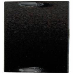Hubbell Premise Wiring FSPB OptiChannel™ FSP Blank Unloaded Adapter Panel, Snap-In Mount, Black Oxide