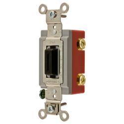 Wiring Device-Kellems HBL1221L Extra Heavy Duty Locking Toggle Switch, 120/277 VAC, 20 A, 1 hp/2 hp