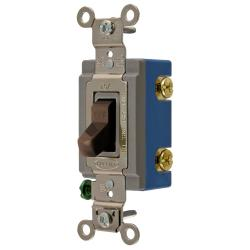 Wiring Device-Kellems HBL1201 Extra Heavy Duty Toggle Switch, 120/277 VAC, 15 A, 1/2 hp/2 hp