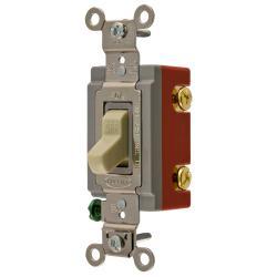 Wiring Device-Kellems HBL1221I Extra Heavy Duty Toggle Switch, 120/277 VAC, 20 A, 1 hp/2 hp
