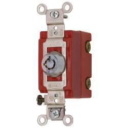 Wiring Device-Kellems HBL1221RKL Extra Heavy Duty Keylock Switch, 120/277 VAC, 20 A, 2 hp