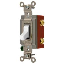 Wiring Device-Kellems HBL1221W Extra Heavy Duty Toggle Switch, 120/277 VAC, 20 A, 1 hp/2 hp