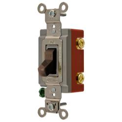 Wiring Device-Kellems HBL1222 Extra Heavy Duty Toggle Switch, 120/277 VAC, 20 A, 1 hp/2 hp