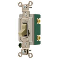 Wiring Device-Kellems HBL3031I Extra Heavy Duty Toggle Switch, 120/277 VAC, 30 A, 2 hp