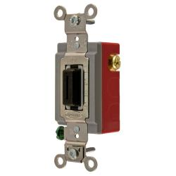 Wiring Device-Kellems HBL1557L Extra Heavy Duty Locking Toggle Switch, 120/277 VAC, 20 A, 1 hp/2 hp, SPDT
