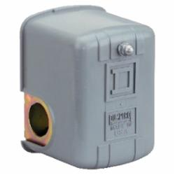Square D 9013FRG22J23H PRESSURE SWITCH 230VAC 1HP F +OPTIONS,-,0.25 inch NPSF internal conforming to UL 508,10 to 45 PSIG,220 PSIG,4...25 psi,40...20 psi,45 psi (10...45 psi),6...20 psi,DPST,General Purpose (Indoor),NEMA 1,Pressure Switch,Pumptrol,Screw Clamp,UL listed, CSA,control electrically driven water pumps,fresh water (-22...257 deg.F)