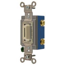 Wiring Device-Kellems HBL1201LI Extra Heavy Duty Locking Toggle Switch, 120/277 VAC, 15 A, 1/2 hp/2 hp