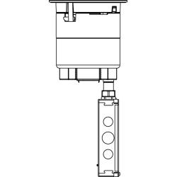WLK 6AT2BK 6IN UNWIRED FLUSH STYLE ASSEMBLY BK