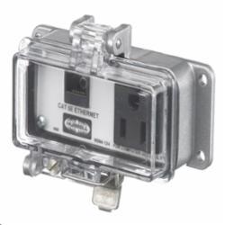 HUBW P155E IE, NEMA 12/4,CAT5E ETHERNET,15A/120VAC