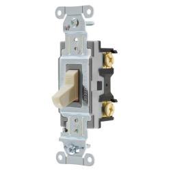 Wiring Device-Kellems CS115I Toggle Switch, 120/277 VAC, 15 A, 1/2 hp/2 hp