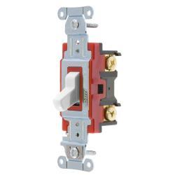 Wiring Device-Kellems 1224W 4-Way Heavy Duty Toggle Switch, 120/277 VAC, 20 A, 1 hp/2 hp
