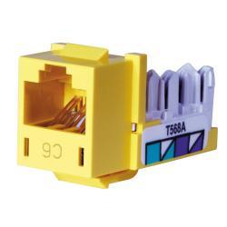 Hubbell Wiring Device-Kellems JACK, HXJ,CAT6,8POS,UNI A/B,YL