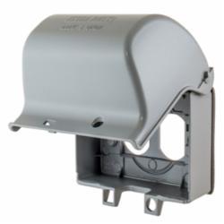 Hubbell Wiring Device-Kellems W/PROOF CVR, 1-G, GFCI, CAST ALUM, HORZ