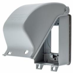 Hubbell Wiring Device-Kellems W/PROOF CVR, 1-G, GFCI, CAST ALUM, VERT