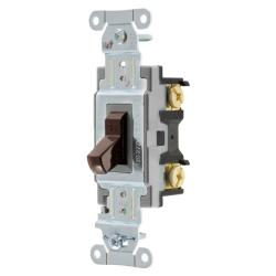 Wiring Device-Kellems CS115 Toggle Switch, 120/277 VAC, 15 A, 1/2 hp/2 hp