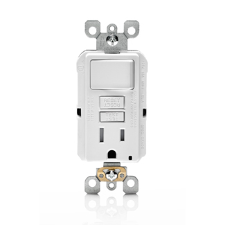 Smartlockpro Gfsw1 W Gfci Combination Switch And Receptacle With