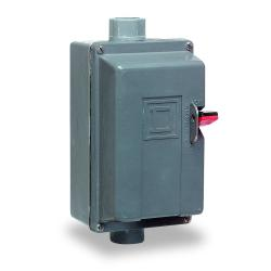 Square D 2510MCW3 MANUAL STARTER 600VAC,27A,3-Phase,3P,600VAC/250VDC,7.5HP@200/230VAC - 10HP@380/575VAC,Glass Polyester - Water tight, Dust tight and Corrosion Resistant,M,M-1,NEMA 4/4X,Non-Reversing Manual Starter,Pressure Wire Clamp,Thermal - Melting Al
