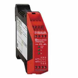 Schneider Electric XPSAFL5130 SAFETY RELAY 300V 2.5A PREVENTA,24 V,3 LED Indicators -14 to 130 Degrees F,3 N.O. (Instantaneous),35 mm symmetrical DIN rail,EN 954-1 Category 3,Preventa,Preventa Safety automation,for emergency stop, switch and safety light curtain monitoring,monitoring of electro-sensitive protection equipment (ESPE)-multiple emergency stop monitoring 2-channel wiring-emergency stop with 2 NC contacts monitoring 2-channel wiring-emergency stop monitoring 1-channel wiring-monitoring of a movable guard,Preventa safety module,Terminal Block (non-removable) Screw Clamp