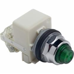 Schneider Electric 9001KT38LGG31 PILOT LIGHT 120VAC 30MM TYPE K +OPTIONS,30mm,Chromium Plated Metal,Green,Harmony,LED (Green) 120V,NEMA 1/2/3/3R/4/6/12/13,Panel,Pilot Light,Push-To-Test,Round,Signalling,UL listed, CSA, CE