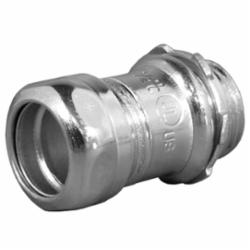 Appleton® 7075S ETP™ 7000S Non-Insulated Throat Straight Compression Connector, 3/4 in Trade, For Use With EMT Conduit, Steel
