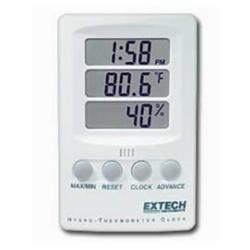 Extech® 445702 Combines 3 displays for Time, Temperature, and Humi