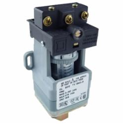 Square D 9012GNO6 PRESSURE SWITCH 480VAC 10AMP G +OPTIONS,-10...185 deg.F,0.25 inch 18 NPTF conforming to UL 508,0.5 inch NPT conduit entrance,120 operating cycles per minute (max),250 psi,5...250 psi,Fixed Differential,Open,Pressure Switch,SPDT (isolated),Single Stage,UL, CSA, IEC, CE-marked,air-hydraulic oil (-40...250 deg.F)-non-corrosive liquids-non-corrosive gas