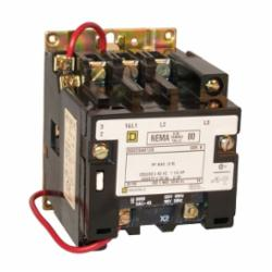 Square D 8502SAO12V01S CONTACTOR 600VAC 9AMP NEMA +OPTIONS,00,24VAC@60Hz,3-Phase,3-Pole,8502S,Non-Reversing Contactor,Screw Clamp,UL Listed - CSA Certified,Used to switch heating loads, capacitors, transformer and electric motors where overload protection is provided separately,no indicator