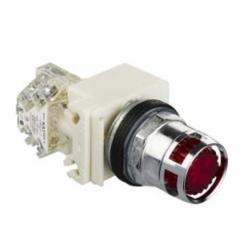 Schneider Electric 9001K3L38LRRH13 PUSH BUTTON 600VAC 10A 30MM T-K,1 NO - 1 NC,10A,30 mm,600V,AC15 - DC13,BA 9s,high luminosity LED,Harmony 9001K,NEMA 1/2/3/3R/4/6/12/13,Panel,Screw Clamp,Standard Pushbutton,UL File Number E42259 CCN NKCR - CSA File Number LR24590 Class 3211-03 - CE Marked,Water tight, Dust tight and Oil tight (Indoor/Outdoor),chromium plated metal,complete illuminated push-button,complete illuminated push-button,spring return,standard
