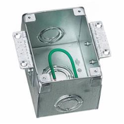 Hubbell Wiring Device-Kellems 1-G RECT STEEL WOOD FB, SEMI ADJ