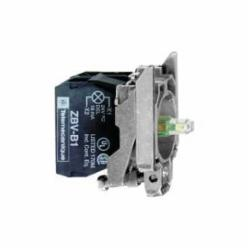 Schneider Electric ZB4BW0G63 BLUE 120V PROTECTED LED W/2 N/O CONTACT,10A,110...120 V AC, 50/60 Hz,2 NO,A600 - Q600,Harmony XB4,Screw Clamp,blue,integral LED,protected LED,complete body/contact assembly and light block,complete body/contact assembly and light block,slow-break